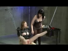 Lesbian Cunt Torture with Hot Wax