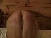 Spanking - Homemade charming butt Spanked