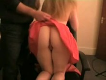 charming butt Spanked - Homemade Spanking