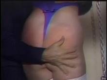 Master Spanking her slave's booty