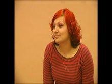 Redhead getting spanked