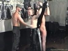 Pinching and hot wax torture after crucifixion