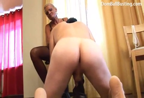 Blonde Torturing Cock and Balls