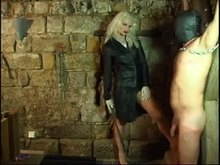 Cock whipping Blonde Mistress