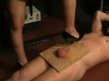 Balls Tortured with High Heels