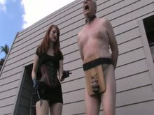 Outdoor CBT - Cropping his Balls