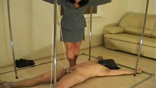 Trampling with balls on bondage