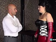 Barbara Angel - Chained Busty Slut