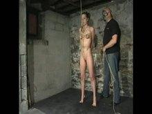 Bondage with crotch rope