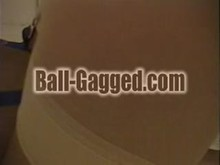 Ball gagged with bound tits