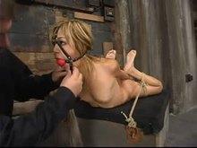 Hogtied and punished Kat