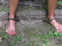Chains and Tickling outdoors