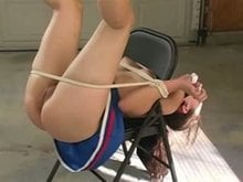 Cheerleader in Bondage
