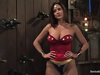 Wonder Woman Clamped and Restrained