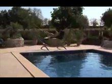 Outdoor Bondage in Swimming pool