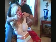 Tied and Gagged Sub girl at home