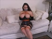 Duct tape gag and bondage