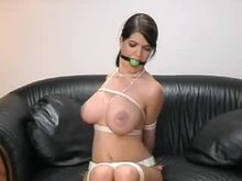 Tied and gagged with gag in her mouth
