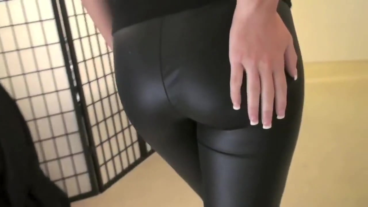 Leather Leggings and Tape Gag