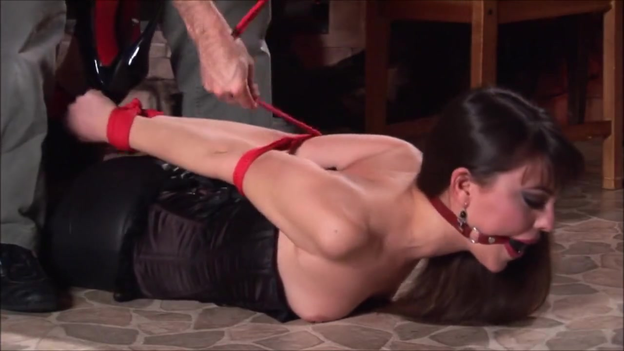 Hogtied Brunette