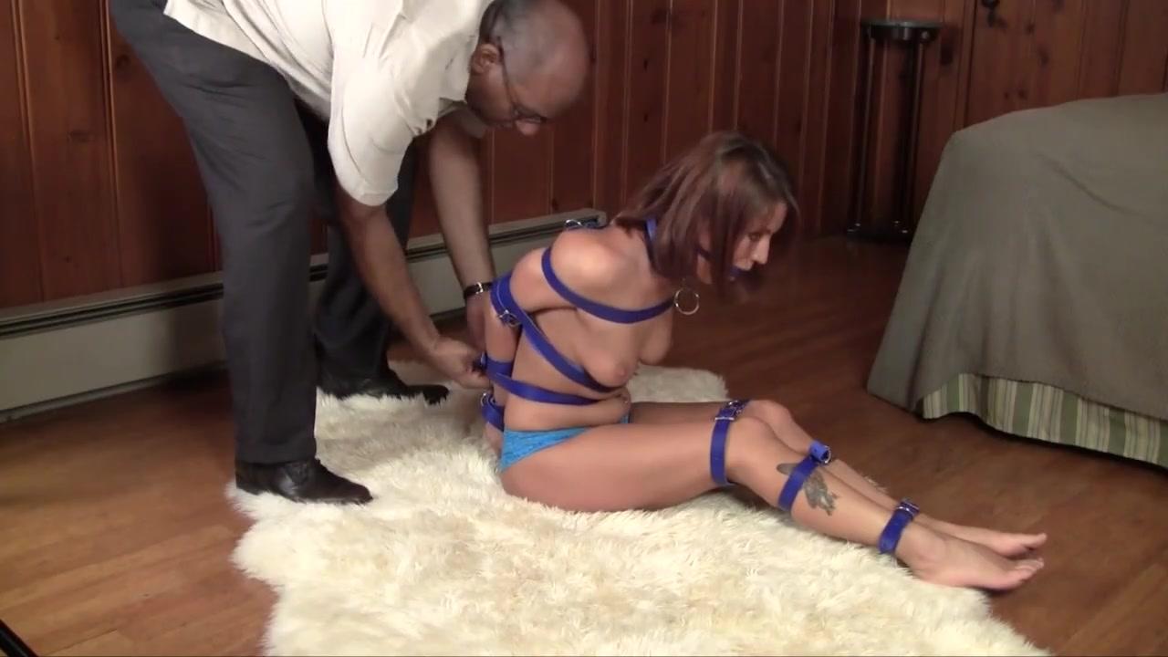Blue belt bondage