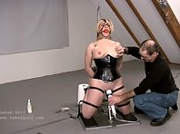 Fucking Machine and Wand in Tight Restraints