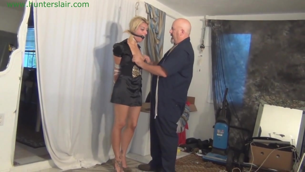 Tit tied and hogtied