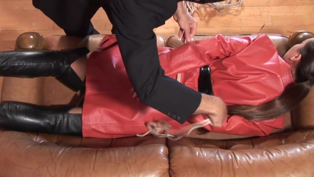 Red Leather Hogtie