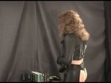 Kinky TV in leather having fun