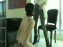 Strap-on Mistresses and slave boys
