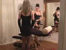 Sissy gets fucked by Strap-on