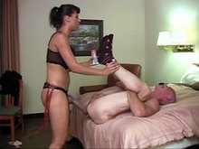 Pegging with HUGE Strap-on
