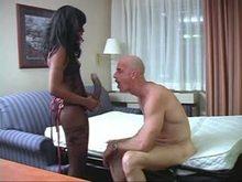 Black Strap-on Diva - White man
