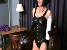 German Mistress with a huge Strap-on