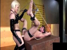 Strap-on from Blonde Domme in Latex