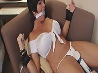 Bound orgasms for her