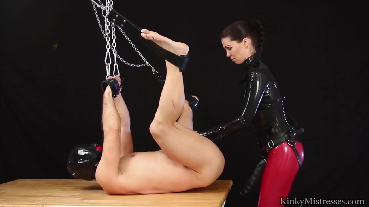 German Mistress fucks slave's ass