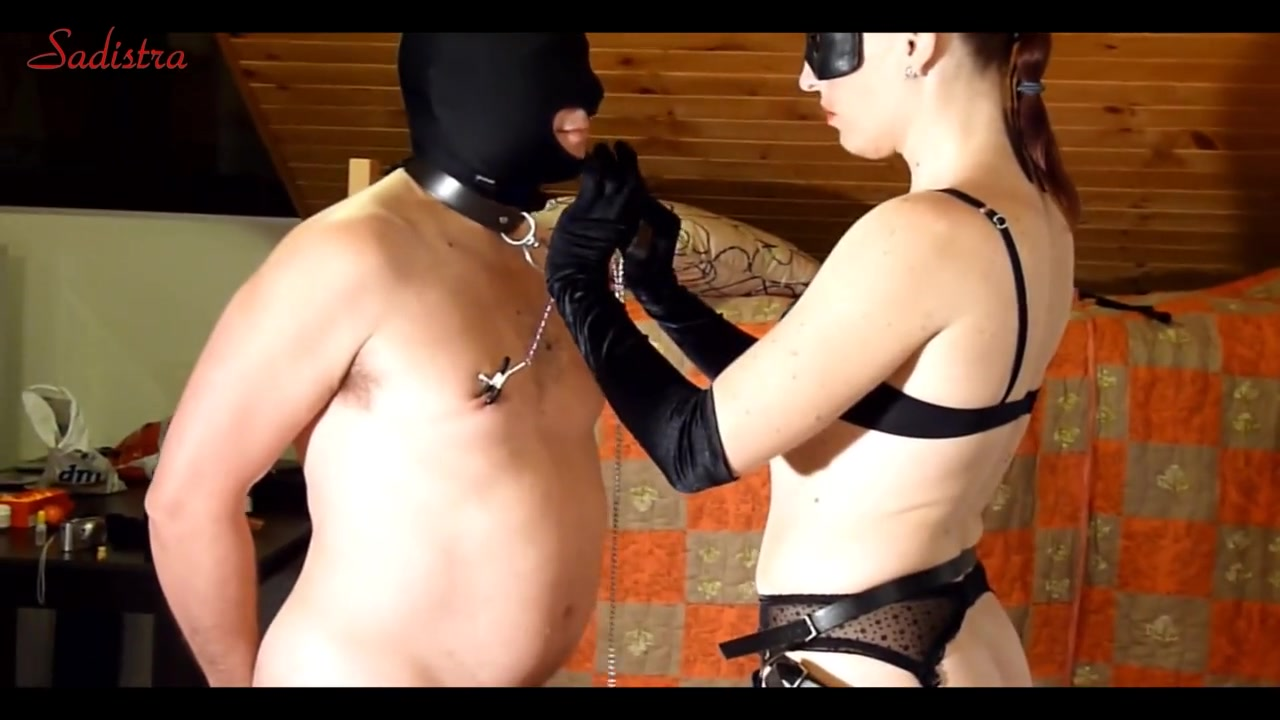 Rim job and strap-on face fuck - Femdom