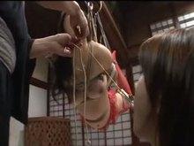 Japanese BDSM with Enema and suspension Bondage