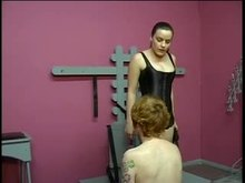 Bound and teased Teen Slave