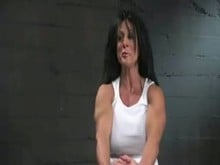 Muscular Woman Bound and Used