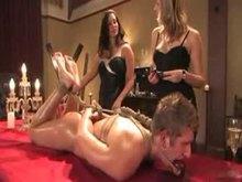 Femdom Mistresses abusing their slave boy