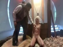 MILF Blonde dominated by strict man