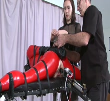 Restrained for fucking machine - HD