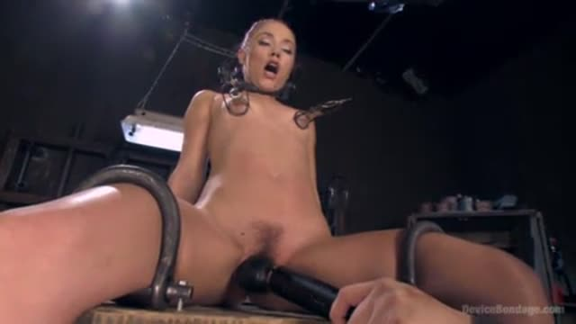 Kristina Rose taken out from her cage