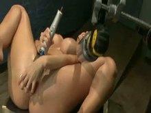 Anal Punishment with Fucking Machine and Plugs