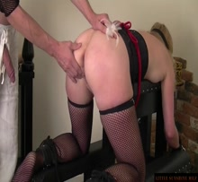 Anal slave's training