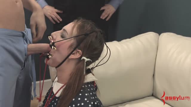 Facefucked in restraints and ATM