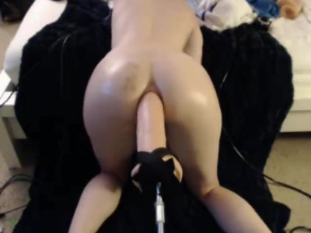 Anal fucking machine with big one