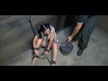 Cruel Slave Training in Chains